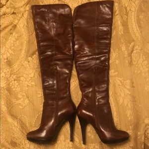 """Aldo knee boots heels 4"""" 100 heels"""
